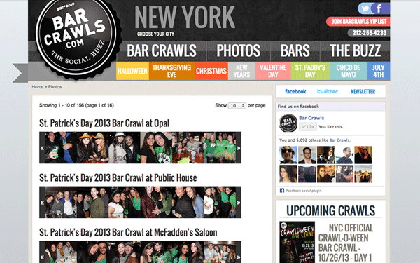 Web and Mobile Development for Bar Crawls